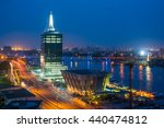 City Of Lagos At Night With...