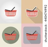 basket of products in... | Shutterstock .eps vector #440474992
