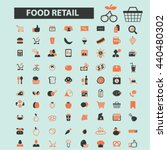 food retail icons | Shutterstock .eps vector #440480302