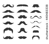 hipster mustache big set on...   Shutterstock .eps vector #440483338