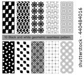 collection of black and white... | Shutterstock .eps vector #440484016