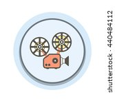 video marketing icon.  lines... | Shutterstock .eps vector #440484112