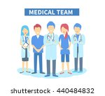team of doctors and other... | Shutterstock .eps vector #440484832