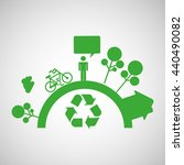 ecology concept design  | Shutterstock .eps vector #440490082