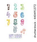 hand drawn numbers. for... | Shutterstock .eps vector #440491372