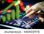 growth graph on digital tablet | Shutterstock . vector #440503978