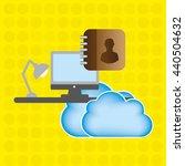 cloud computing design    Shutterstock .eps vector #440504632