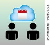 cloud computing design  | Shutterstock .eps vector #440504716
