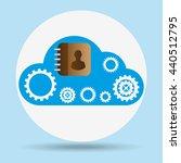 cloud computing design  | Shutterstock .eps vector #440512795