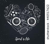 collection of vector sport... | Shutterstock .eps vector #440517622