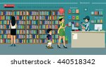 women are buying books with a... | Shutterstock .eps vector #440518342