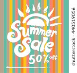 summer sale picture with a...   Shutterstock .eps vector #440519056