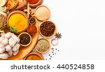 Top View Mix Indian Spices And...