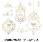 vector set of frames  vignettes ... | Shutterstock .eps vector #440524915