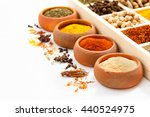 group of indian spices and... | Shutterstock . vector #440524975