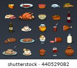 food icons casual cartoon set | Shutterstock .eps vector #440529082