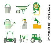 set of farmer tools. objects... | Shutterstock .eps vector #440535112