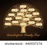 genealogical family tree on a... | Shutterstock .eps vector #440537176