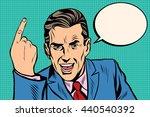 speaker businessman pointing...   Shutterstock . vector #440540392