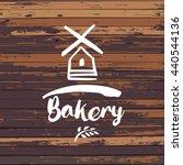 old windmill  bakery logo... | Shutterstock .eps vector #440544136