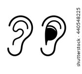 ear and earplug icons set.... | Shutterstock . vector #440548225