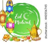 ramadan kareem. traditional... | Shutterstock .eps vector #440556745
