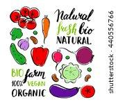 vector farm vegetables. brush... | Shutterstock .eps vector #440556766
