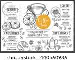 coffee menu placemat food... | Shutterstock .eps vector #440560936