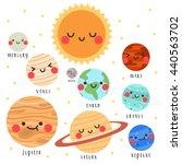 illustration of cute cartoon... | Shutterstock .eps vector #440563702