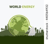 saving world energy concept ... | Shutterstock .eps vector #440564932