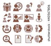 businessman icon set | Shutterstock .eps vector #440567806