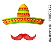 colored cartoon sombrero and... | Shutterstock .eps vector #440577622