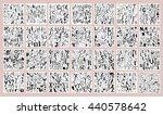 vector alphabet. hand drawn.... | Shutterstock .eps vector #440578642