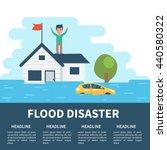 flood disaster concept... | Shutterstock .eps vector #440580322