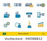 set of saudi arabian riyal.... | Shutterstock .eps vector #440588812