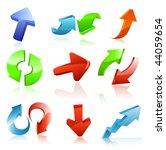 arrow icon set | Shutterstock .eps vector #44059654