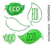 hand drawn eco product labels... | Shutterstock .eps vector #440600866