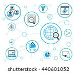 seo  search engine optimization ... | Shutterstock .eps vector #440601052