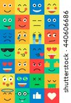 set of emoji. emoticons flat set | Shutterstock .eps vector #440606686