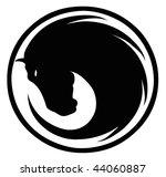 Stock vector black horse symbol 44060887