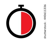 stopwatch icon   half  | Shutterstock .eps vector #440611336