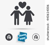 couple sign icon. male love... | Shutterstock .eps vector #440614006