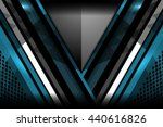 modern abstract blue background ... | Shutterstock .eps vector #440616826