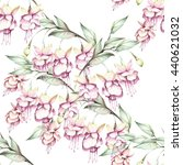 seamless pattern with fuchsia.... | Shutterstock . vector #440621032