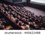 full cinema  people on the... | Shutterstock . vector #440621488