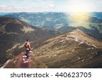 man standing on the top of the... | Shutterstock . vector #440623705