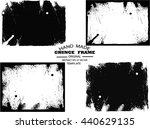 set of grunge frame   abstract... | Shutterstock .eps vector #440629135