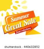 web banner great sale summer.... | Shutterstock .eps vector #440632852