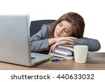 business woman sleeping on... | Shutterstock . vector #440633032