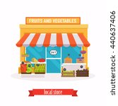 farmers market. flat design... | Shutterstock .eps vector #440637406